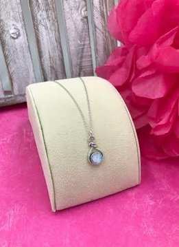 Sterling Silver Roman Glass Knot Style Necklace