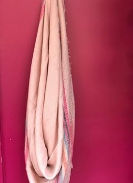 Pink Plaid Blanket Scarf