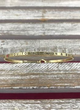 "Gold Bangle ""Love You To The Moon And Back"""