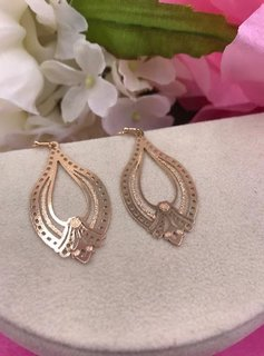 Gold Trendy Style Lightweight Earrings