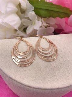 Gold Multiple Oval Loop Earrings