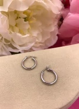 Italian Sterling Silver Tiny Hoops