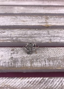 Sterling Silver Friendly Flowers Ring