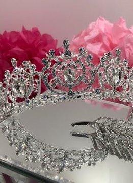 Silver and Clear Rhinestone Royal Princess Tiara