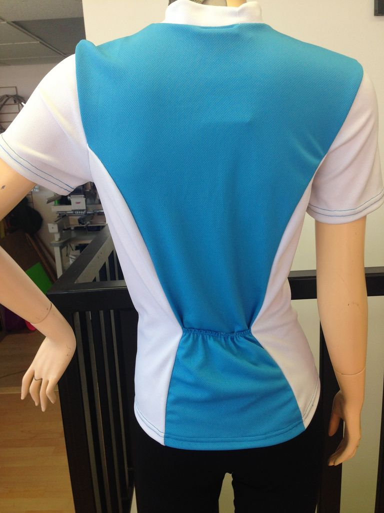 Sportees Sportees Athletic Fit Cycling Multi-Paneled Jersey w/ Back Pockets-Women's Cut-Can Pick Colours for Each Panel- Size XL