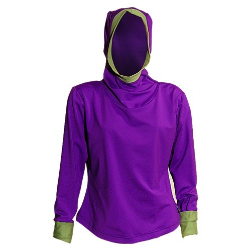 Sportees Sportees Athletic 4 Way Stretch Supplex Yoga Hoodie-One Size ( Can Be Built To Fit You)