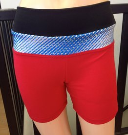 Sportees Sportees Athletic Fit Yoga Shorts with Wide Waistband- Size XL-Extra