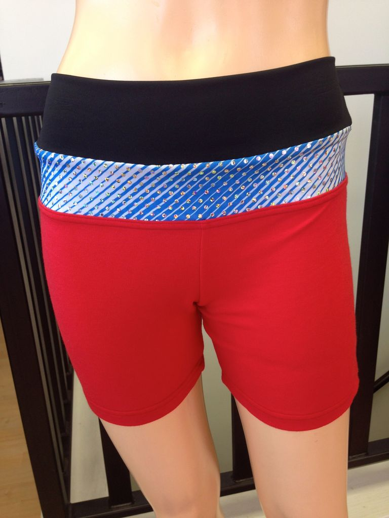 Sportees Sportees Athletic Fit Yoga Shorts with Wide Waistband- Size XS-Extra