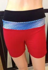 Sportees Sportees Athletic Fit Yoga Shorts with Wide Waistband- Size M-Extra