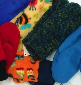 Sportees Sportees Doubled Lined/ WindBloc Fleece Mittens w/ Fleece Cuff-Size L