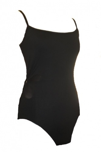 Bloch Bloch (L5907-BLK-L) METAL RING SIDE FLOWER LEOTARD