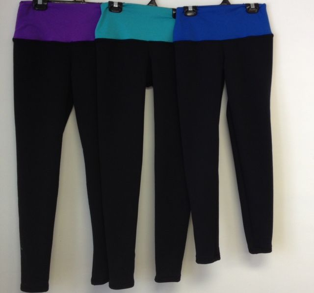 Sportees Sportees-Yoga-Tights-FLEECE Made from Polartec Powerstretch with Wide Yoga Waistband