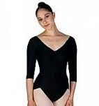 Capezio Capezio (3621-S) 3/4 Length Sleeves Bodysuit