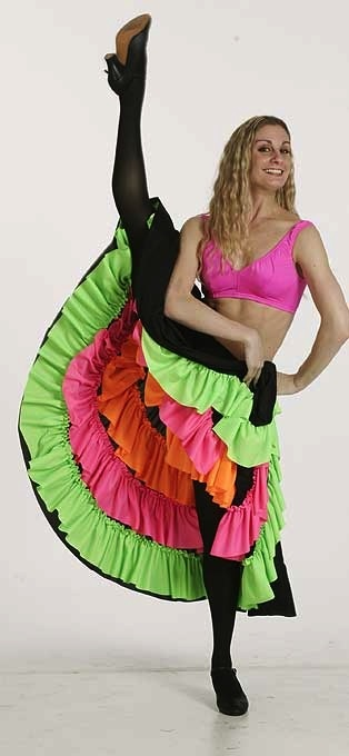 Can-Can-Skirt - Black with Neon Colours