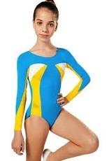 So Danca So Danca L853-Longsleeve-Gymnastics-Bodysuit-Wave