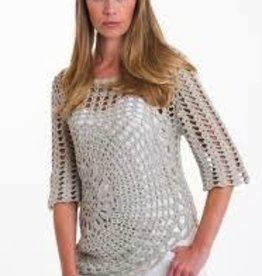"Pure Handknit Make your inner hippie happy this summer with this artisan pullover. (S) HPS Length to lowest point: 30"", (S) HPS Length to highest point: 20"". Crochet."