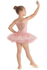 Bloch Children&#039;s high neck camisole leotard. NO TUTU<br /> Features: heart mesh back, slit back openings. <br /> <br /> Material: 90% Nylon, 10% Spandex. 100% Polyester. <br /> <br /> Care Instructions: Machine was seperatly on gentle cold. Line dry.