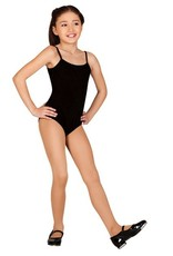 Bloch This stylish girl&#039;s version of our popular adult camisole leotard M201L features a moderate scoop front and &quot;V&quot; back.<br /> Front is fully lined.