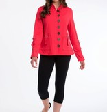 """Neon Buddha A bold modern jacket. Features cotton taping with rouching on sleeve and pockets. (S) HPS length: 24.5"""""""