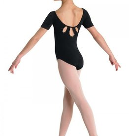 Bloch CL3762 Short Sleeve Cut Out with Diamante Leotard/Bodysuit