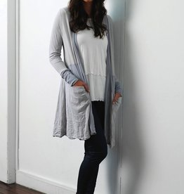 Vigorella Vigorella VB215 Spliced Long Cardigan with Mesh MIdriff