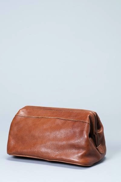 ELK Mr Elk Leather Dopp Kit