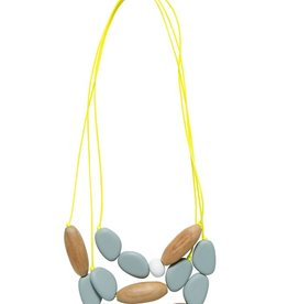 ELK Elk Wood and Resin 3 Strand Pod Necklace