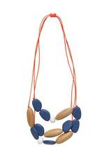 ELK Elk Wood and Resin 3 Strand Pod Necklace