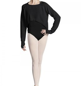 Bloch Bloch Z6910 Hole Knit HIgh/Low Sweater