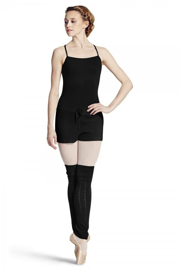 Bloch Bloch R6704 Hole Knit HIgh Waisted Short