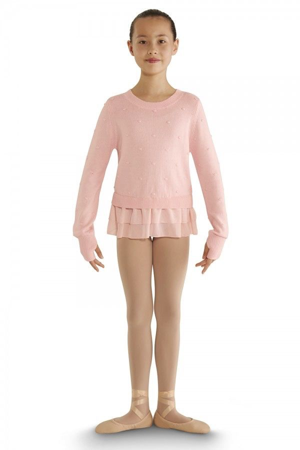 Bloch Bloch CZ6929 Bubble Knit Long Sleeve Peplum Sweater CHILD