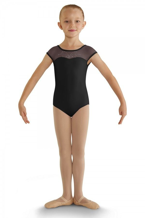 Bloch Bloch CL8812 Diamante Bow Back Cap Sleeve Leotard