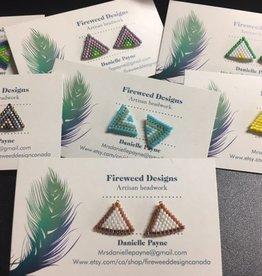 Fireweed Designs Artisan Beadwork Earrings