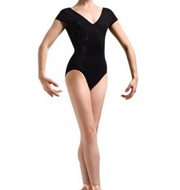 Bloch Bloch Mirella MJ7176 Laser Sides and Cap Sleeve Leotard Bodysuit