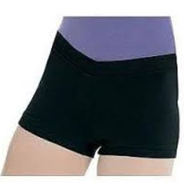 Bloch Bloch (CR3644- BLK- 6x-7) V-Front Shorts