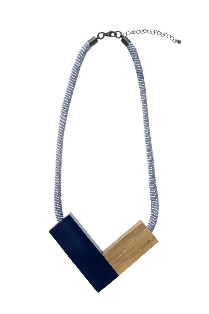 ELK Elk Wood and Resin Rope Necklace
