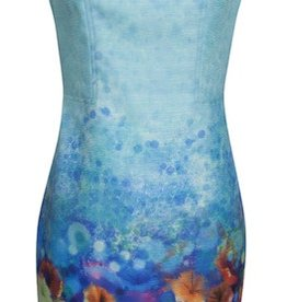 Smashed Lemon Smashed Lemon S17276 Blue Flower Dress