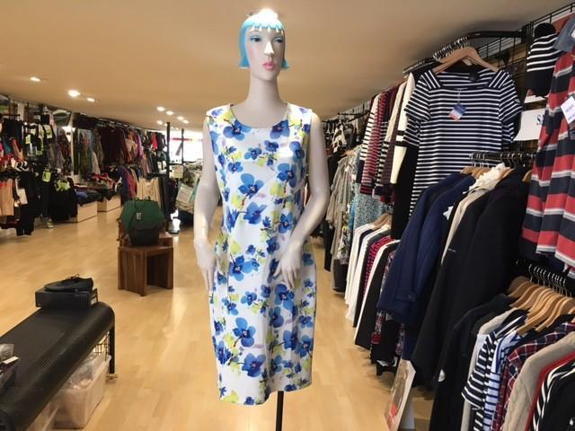 Smashed Lemon Smashed Lemon L16073 Blue Flowered Dress