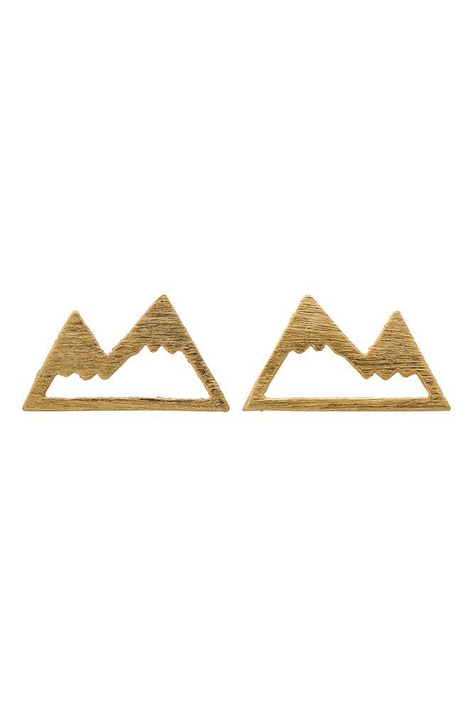 ELK Elk SE0434S15 Gold Alp Stud Earrings