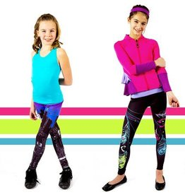 Limeapple Limeapple Printed Child Capri Leggings<br /> Perfect for any occasion and extremely comfortable, our printed leggings will have her reaching for them over and over again. Wear them to school, dance, around the house or even to a birthday party! Dress the leggin