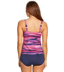 Gabar Swimwear Gabar Ocean Ikat Twist Tankini Two Piece Set
