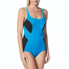 Gabar Swimwear GABAR COLOR BLOCK SCOOP NECK ONE PIECE SWIMSUIT