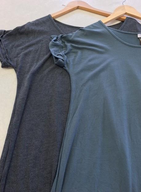 Vigorella Vigorella VS219 Shift Dress with Rolled Cuffs