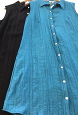 Vigorella Vigorella VTEX032 Asymmetric Hem Collared Dress