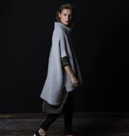 ELK Elk Grey Roll Neck Poncho