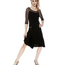 So Danca So Danca Fiona B389- Adult Ballroom skirt with ruffle