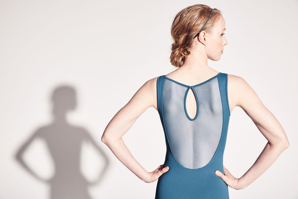 Bloch Bloch Vine Flock Front Yoke Tank Leotard