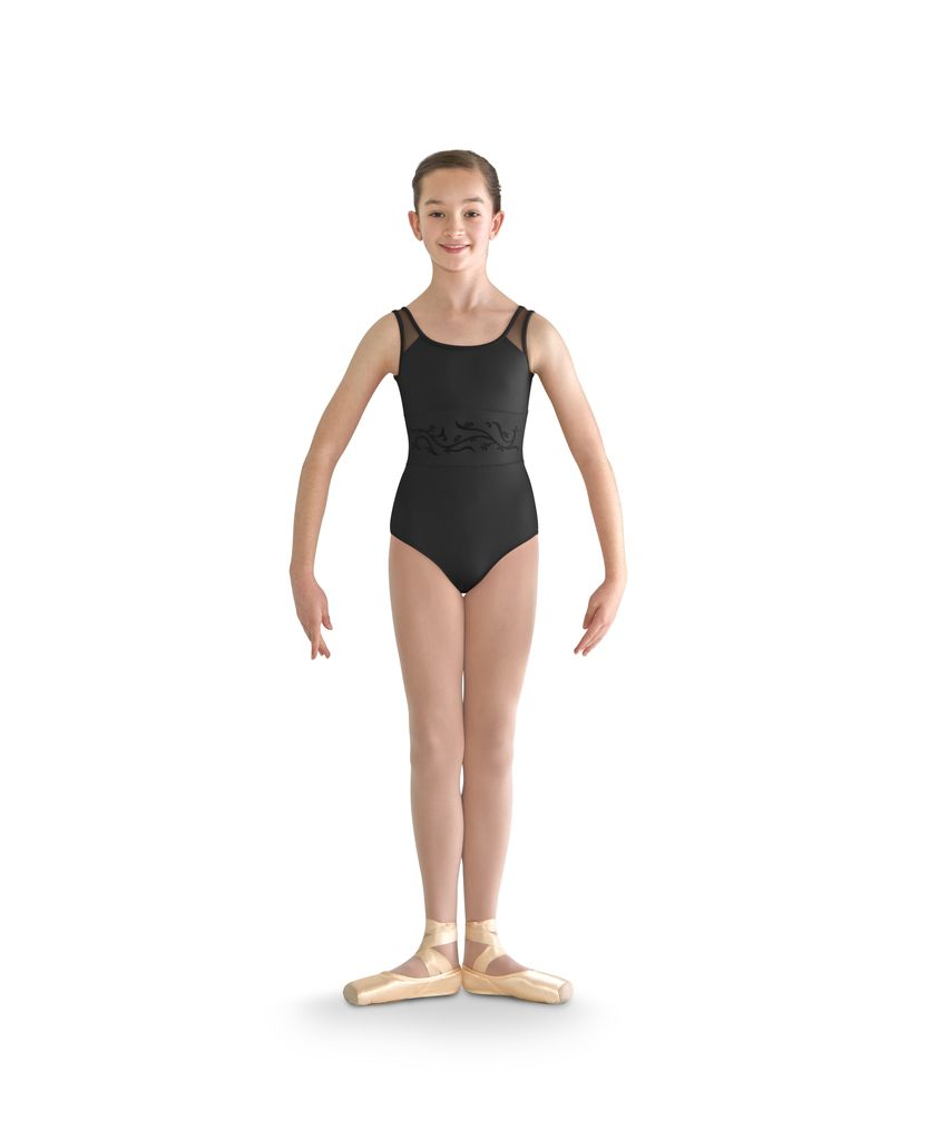 Bloch Bloch Vine Flock Waist Band Tank Leotard