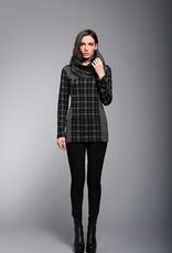 Ruelle Ruelle Chalet Checkered Black and White Tunic