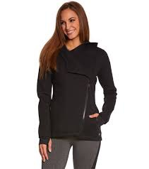 MPG Just right for warm ups and cool downs, this transitional jacket features mesh lining at the hood and an asymmetrical zip front to complete a streamlined design. Its elongated look comes in airy jersey for light breathability. Wear this zip-up style with